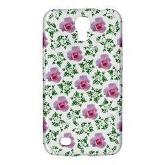 Rose Flower Pink Leaf Green Samsung Galaxy Mega 6.3  I9200 Hardshell Case