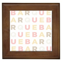 Alphabeth Rainbow Color Framed Tiles