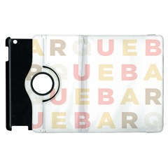 Alphabeth Rainbow Color Apple iPad 3/4 Flip 360 Case