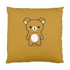Bear Minimalist Animals Brown White Smile Face Standard Cushion Case (One Side)