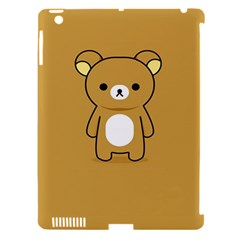 Bear Minimalist Animals Brown White Smile Face Apple iPad 3/4 Hardshell Case (Compatible with Smart Cover)