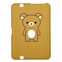 Bear Minimalist Animals Brown White Smile Face Kindle Fire HD 8.9