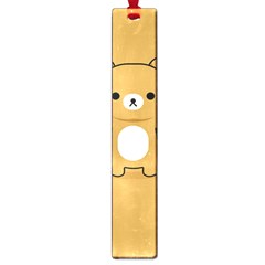 Bear Minimalist Animals Brown White Smile Face Large Book Marks
