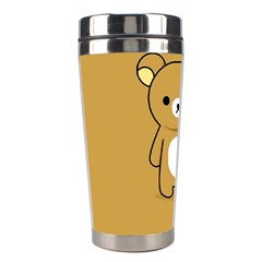 Bear Minimalist Animals Brown White Smile Face Stainless Steel Travel Tumblers