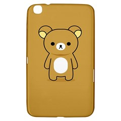 Bear Minimalist Animals Brown White Smile Face Samsung Galaxy Tab 3 (8 ) T3100 Hardshell Case