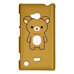 Bear Minimalist Animals Brown White Smile Face Nokia Lumia 720