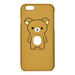 Bear Minimalist Animals Brown White Smile Face iPhone 6/6S TPU Case