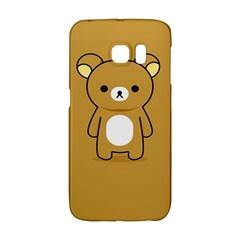 Bear Minimalist Animals Brown White Smile Face Galaxy S6 Edge
