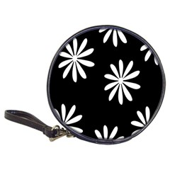 Black White Giant Flower Floral Classic 20-CD Wallets