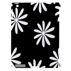 Black White Giant Flower Floral Apple iPad 3/4 Hardshell Case (Compatible with Smart Cover)