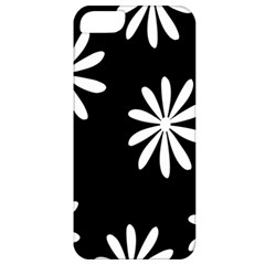 Black White Giant Flower Floral Apple iPhone 5 Classic Hardshell Case