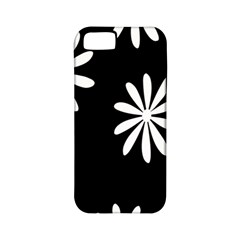 Black White Giant Flower Floral Apple iPhone 5 Classic Hardshell Case (PC+Silicone)