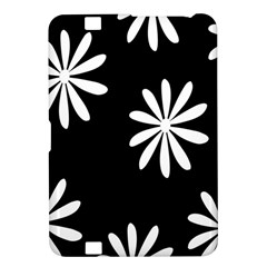 Black White Giant Flower Floral Kindle Fire Hd 8 9