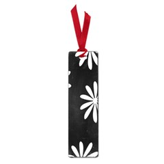 Black White Giant Flower Floral Small Book Marks