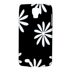 Black White Giant Flower Floral Galaxy S4 Active