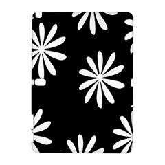 Black White Giant Flower Floral Galaxy Note 1