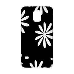 Black White Giant Flower Floral Samsung Galaxy S5 Hardshell Case