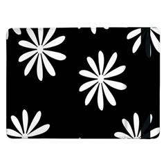 Black White Giant Flower Floral Samsung Galaxy Tab Pro 12.2  Flip Case