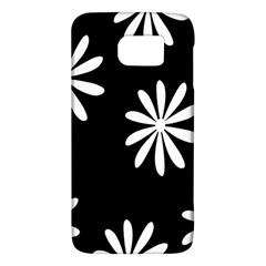 Black White Giant Flower Floral Galaxy S6