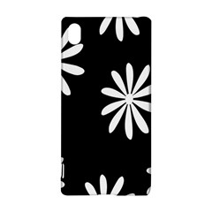 Black White Giant Flower Floral Sony Xperia Z3+