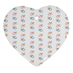 Baby Pacifier Pink Blue Brown Kids Ornament (Heart)
