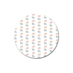 Baby Pacifier Pink Blue Brown Kids Magnet 3  (round)