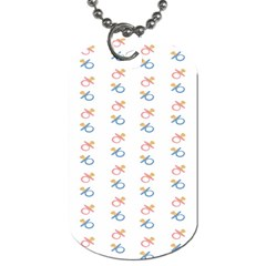 Baby Pacifier Pink Blue Brown Kids Dog Tag (Two Sides)
