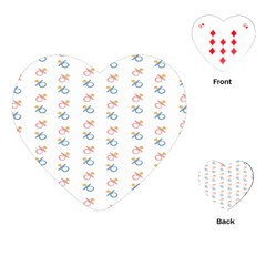 Baby Pacifier Pink Blue Brown Kids Playing Cards (Heart)