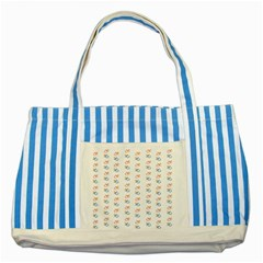 Baby Pacifier Pink Blue Brown Kids Striped Blue Tote Bag