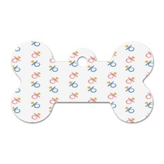 Baby Pacifier Pink Blue Brown Kids Dog Tag Bone (Two Sides)