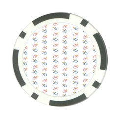 Baby Pacifier Pink Blue Brown Kids Poker Chip Card Guard