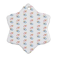 Baby Pacifier Pink Blue Brown Kids Snowflake Ornament (Two Sides)