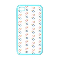 Baby Pacifier Pink Blue Brown Kids Apple iPhone 4 Case (Color)