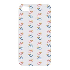 Baby Pacifier Pink Blue Brown Kids Apple iPhone 4/4S Hardshell Case