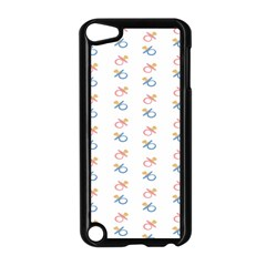 Baby Pacifier Pink Blue Brown Kids Apple iPod Touch 5 Case (Black)