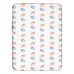 Baby Pacifier Pink Blue Brown Kids Samsung Galaxy Tab 3 (10.1 ) P5200 Hardshell Case