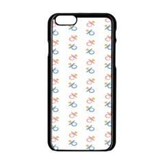 Baby Pacifier Pink Blue Brown Kids Apple iPhone 6/6S Black Enamel Case