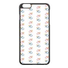 Baby Pacifier Pink Blue Brown Kids Apple iPhone 6 Plus/6S Plus Black Enamel Case