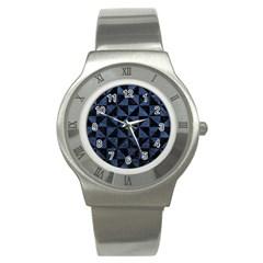 TRI1 BK-MRBL BL-STONE Stainless Steel Watch