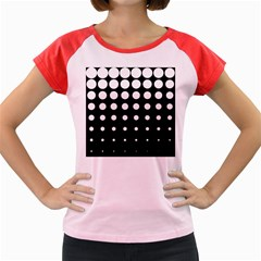 Circle Masks White Black Women s Cap Sleeve T-Shirt