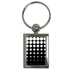 Circle Masks White Black Key Chains (rectangle)