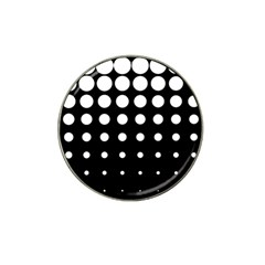 Circle Masks White Black Hat Clip Ball Marker (4 pack)