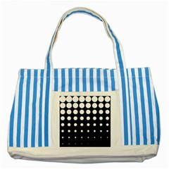 Circle Masks White Black Striped Blue Tote Bag