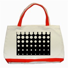 Circle Masks White Black Classic Tote Bag (Red)