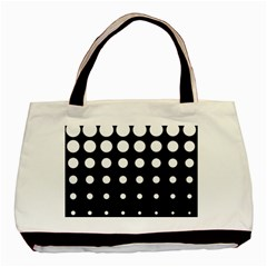 Circle Masks White Black Basic Tote Bag (Two Sides)