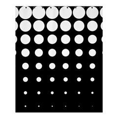 Circle Masks White Black Shower Curtain 60  x 72  (Medium)