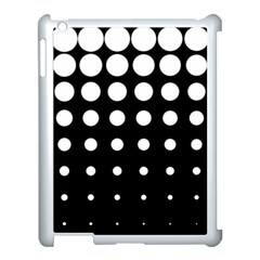 Circle Masks White Black Apple iPad 3/4 Case (White)