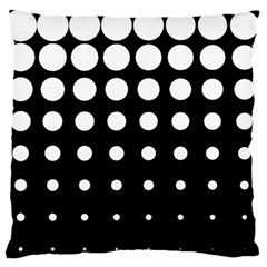 Circle Masks White Black Large Flano Cushion Case (Two Sides)