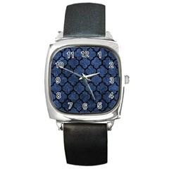 TIL1 BK-MRBL BL-STONE (R) Square Metal Watch