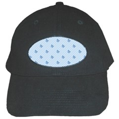 Blue Butterfly Line Animals Fly Black Cap